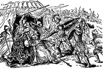 Милош Обилич убивает турецкого султана Мурада