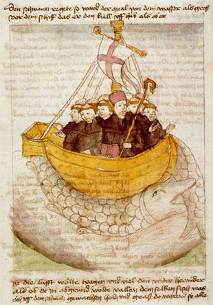 Путешествие святого Брендана. Немецкий манускрипт, ок. 1460