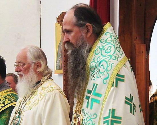 В Юрьевом монастыре с владыкой Львом. Великий Новгород.