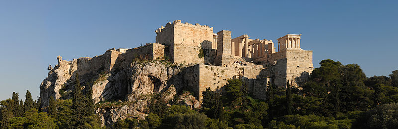 Acropolis panoramic view from Areopagus hill Athens Greece. Photo: Wikimedia Commons.
