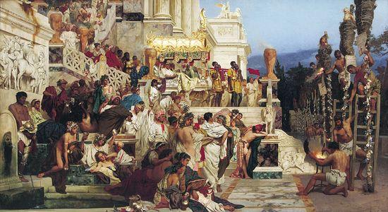 Семирадский Г.И. Светочи христианства (Факелы Нерона)