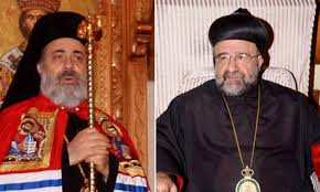lett Metropolitan Paul (Yazigi), of Aleppo, right Syriac Archbishop Youhanna (Ibrahim) Both Orthodox Bishops were kidnapped by armed militants in April.