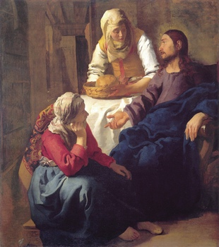 Ян Вермеер. Христос в доме Марфы и Марии. 1655 год