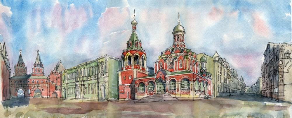 Казанский собор на Красной площади в Москве. Автор: Иван Краснобаев