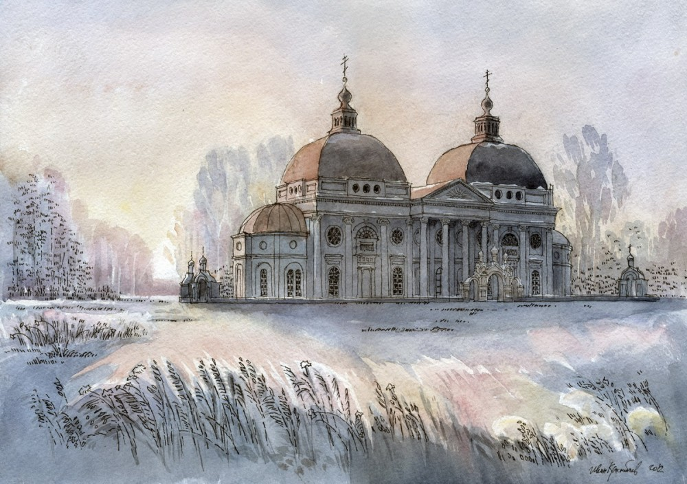 Казанская церковь в с. Ярополец, Московская область. Автор: Иван Краснобаев