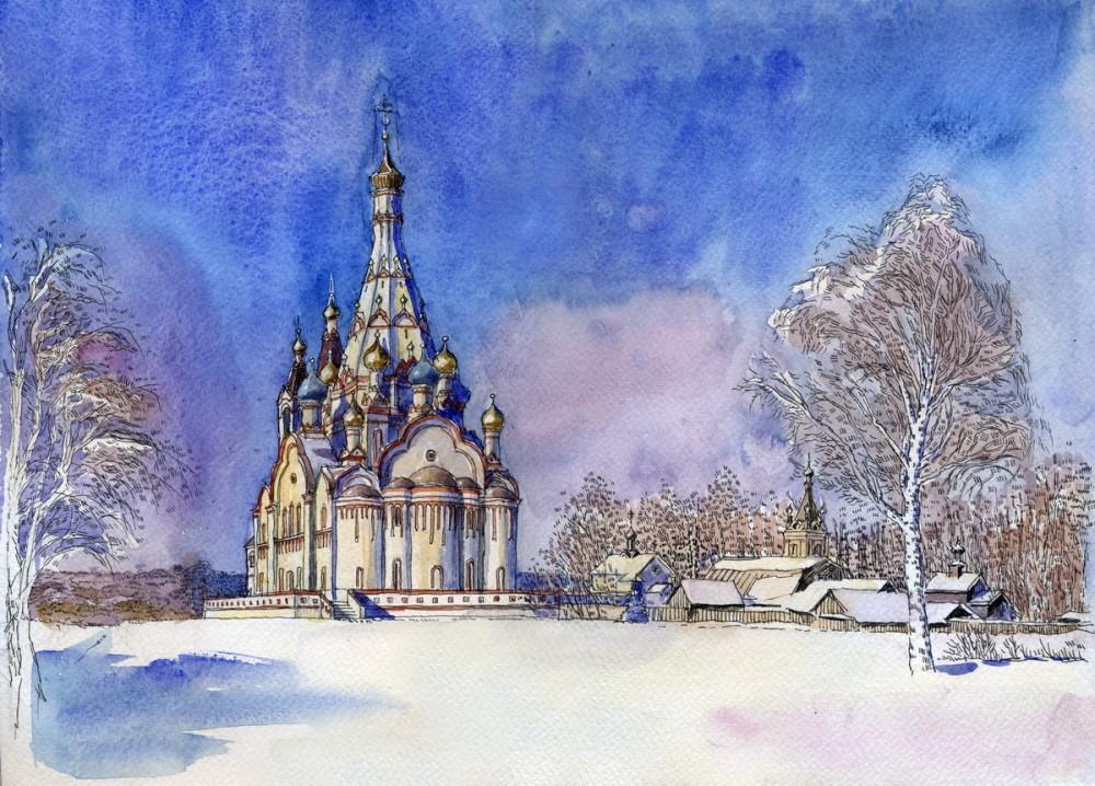 Казанская церковь в г. Долгопрудный, Московская область. Автор: Иван Краснобаев
