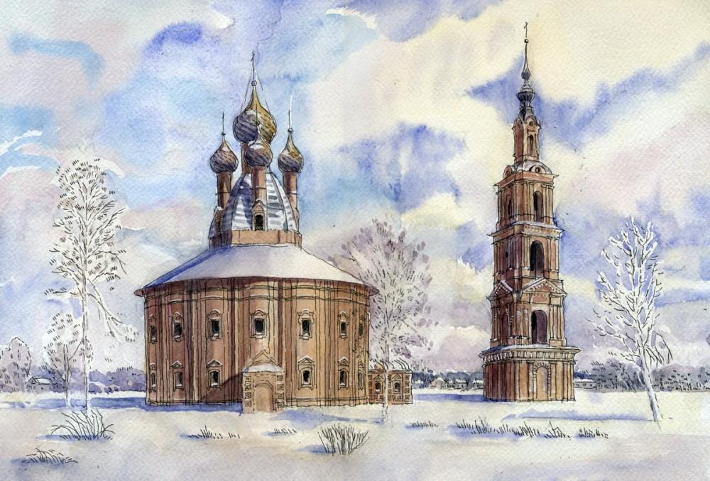 Казанская церковь в с. Курба, Ярославская область. Автор: Иван Краснобаев