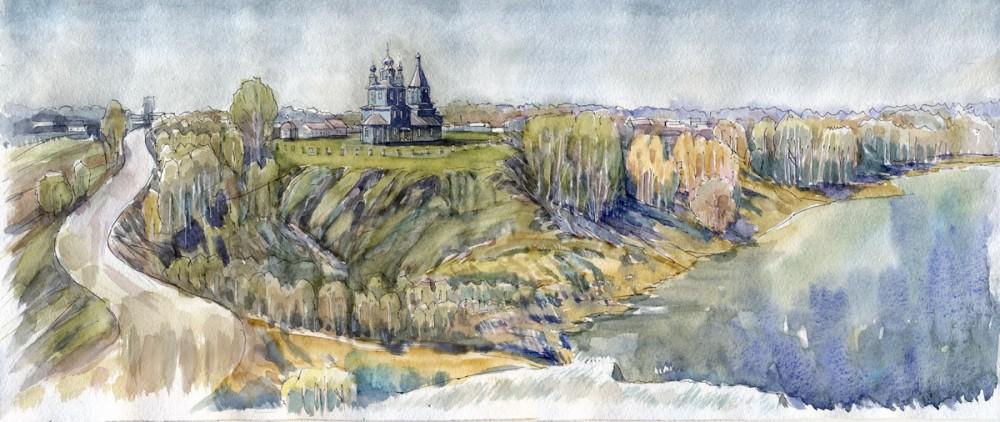 Казанская церковь в с. Великий Враг, Нижегородская область. Автор: Иван Краснобаев