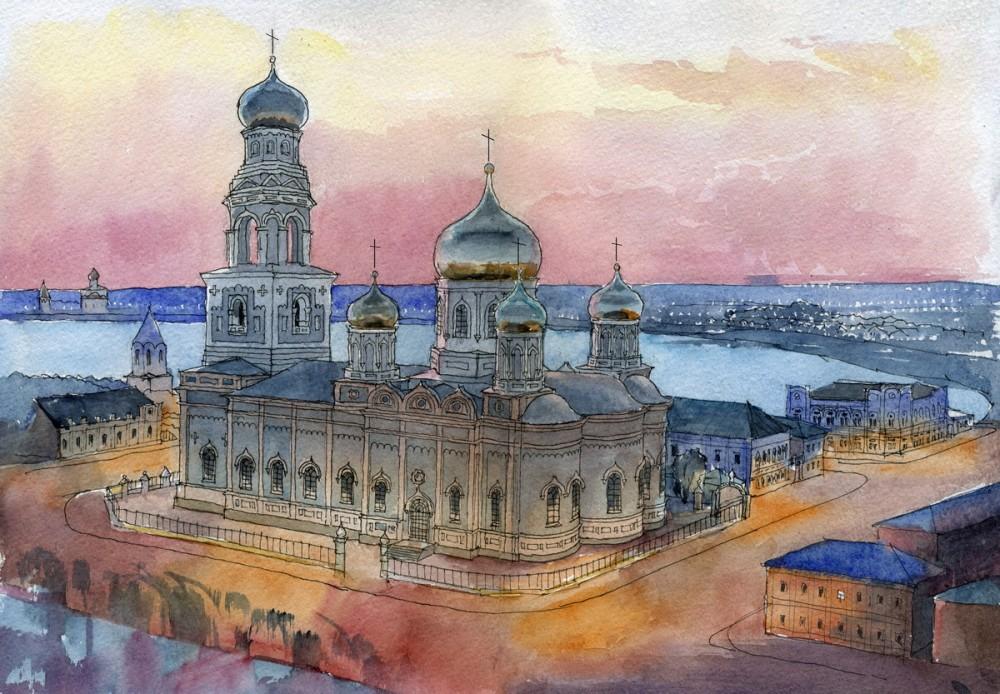 Казанский собор в г. Сызрани, Самарская область. Автор: Иван Краснобаев