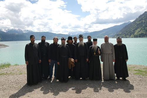 Братия в поездке на Вальхензее, альпийское озеро недалеко от Мюнхена.
