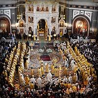 Служение Предстоятелей и иерархов Поместных Православных Церквей в Храме Христа Спасителя