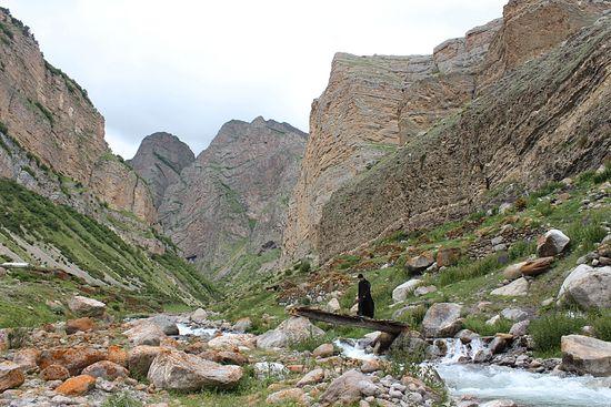 Чегемское ущелье. У аула Эль-Тюбю, более известного, как Верхний Чегем