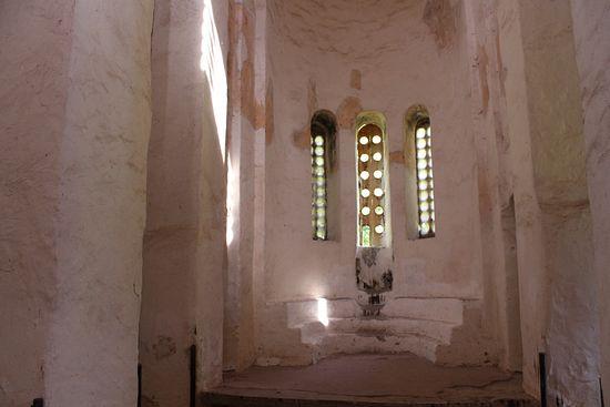 Алтарь Георгиевского храма (X век), бывшего кафедральным собором Аланской епархии.