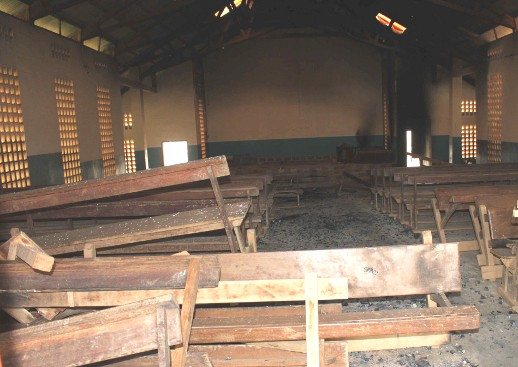 (Photo: World Watch Monitor) Catholic church in Nzérékoré following deadly violence two weeks ago. Photo: World Watch Monitor.