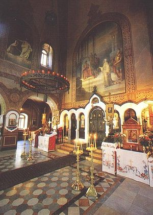 The interior of the Convent Church of St. Mary Magdalene