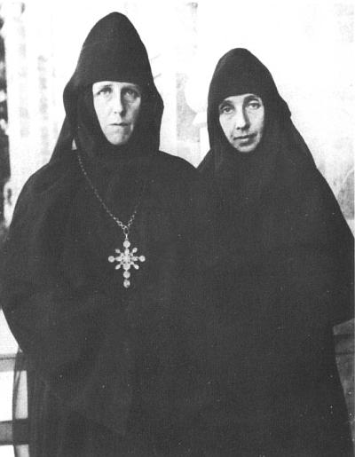 (Left) the foundress of the sisterhood, Mother Mary (Robinson).