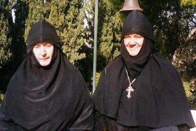 (Right) Abbess Elizabeth of the Gesthemane Convent of St. Mary Magdalene