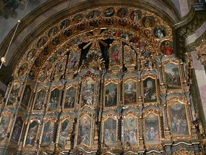 Самый большой иконостас в Центральной Европе (его высота 16 м) создавали лучшие австрийские художники конца XVIII в. - начала XIX в.