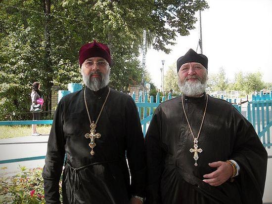 Протоиерей Павел Недосекин и игумен Виссарион