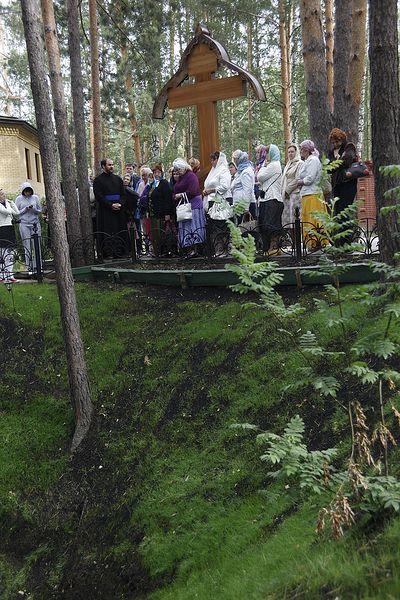 Участники благотворительной акции на месте убийства Елизаветы Федоровны