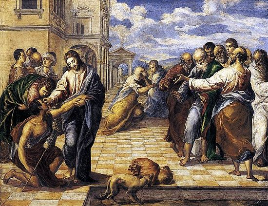 Christ Healing the Blind. El Greco, 1567