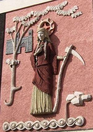 Святая Сативола (изображение в Эксетере).