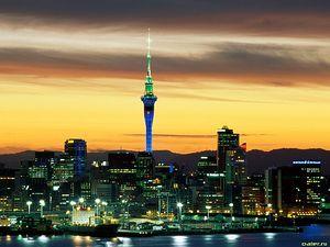 Вид на Веллингтон, столицу Новой Зеландии