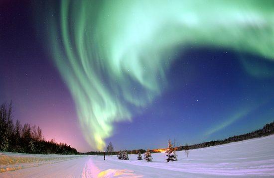 Исландия. Северное сияние