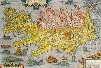 Карта Исландии.