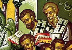 4. Also in attendance to pray for the Theotokos were several Bishops (detail).