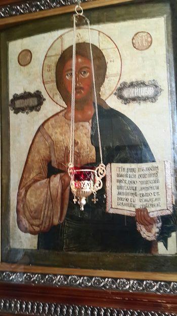 Икона «Спаса Вседержителя» из коллекции Мариса Лиепы сейчас находится в Преображенском соборе