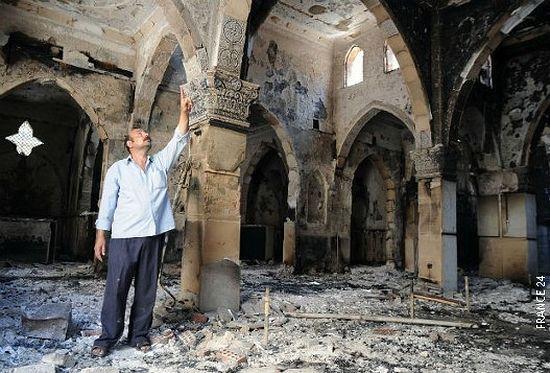 Уништена црква светог Архангела Михаила у Гизи