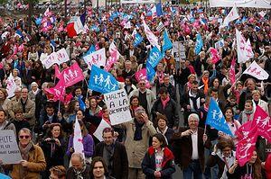 Демонстрация против однополых браков. Париж, 27.05.2013