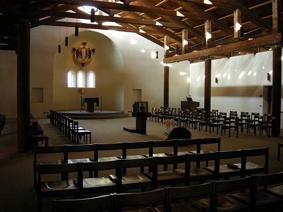 В монастырской церкви Святого Преображения