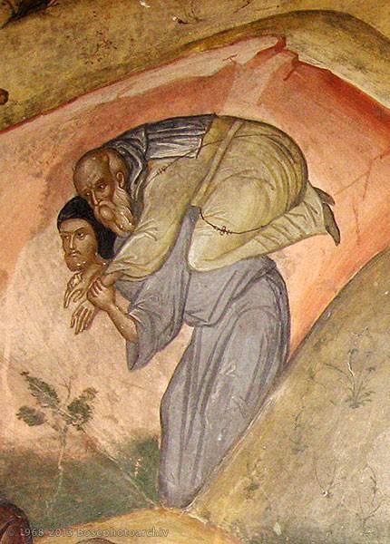 Фрагмент фрески из греческого монастыря св. Николая в Метеорах, ставший своеобразной эмблемой конференции 2013 года в Бозе
