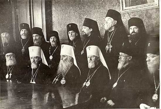 Заседание Архиерейского Cобора РПЦ. 8 сентября 1943 г. Москва