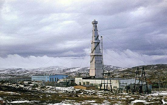 Кольская сверхглубокая скважина. Буровая первого этапа (глубина 7 600 м), 1974 г.