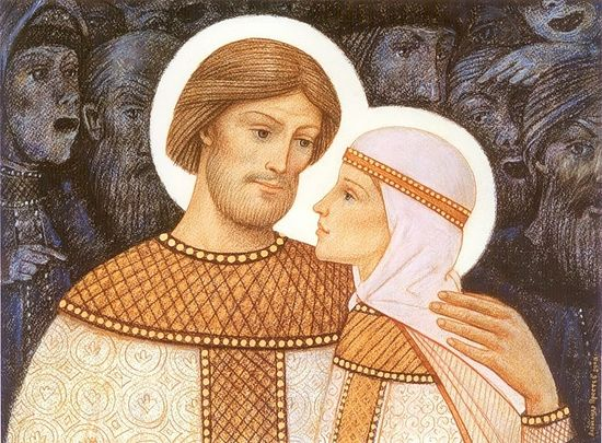 Sts. Peter and Febronia. Artist: Alexander Prostev