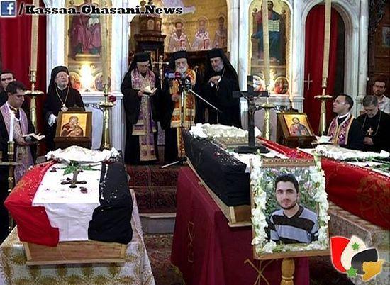 Отпевание убитых дамасских христиан