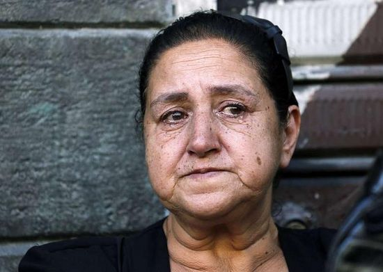 A woman cries at the funeral of Christians killed in Maaloula. Photo: AFP - Anwar Amro