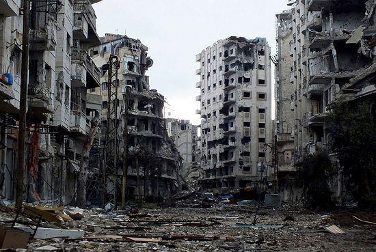 Хомс — город в центре западной Сирии. 2 февраля 2013. Фото: Yazen Homsy | Reuters