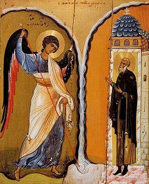 «Чудо архангела Михаила в Хонех», византийская икона, первая половина XII века.