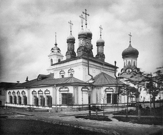 Московский Рождественский женский монастырь. Церковь Иоанна Златоуста. Фото 1882 г.