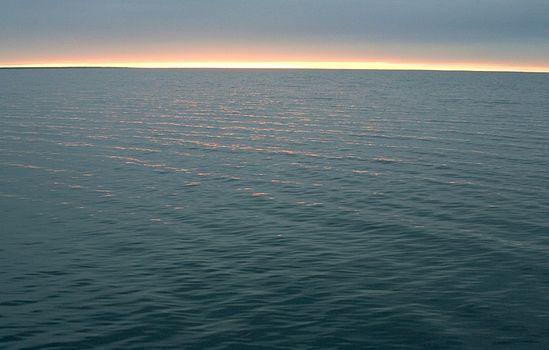Рассвет на Кубенском озере.
