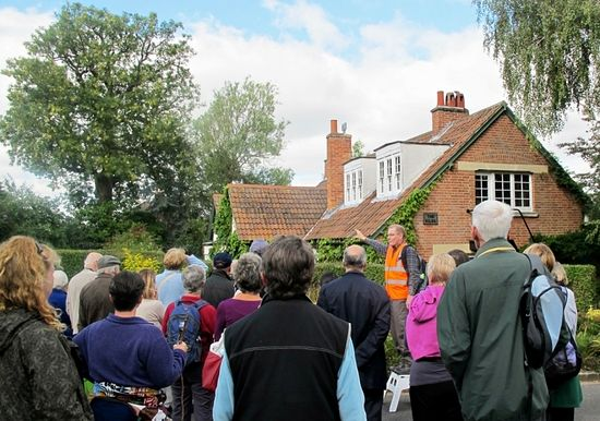 A local historian shows CS Lewis enthusiasts the writer's home, The Kilns. Photo: ChristianToday