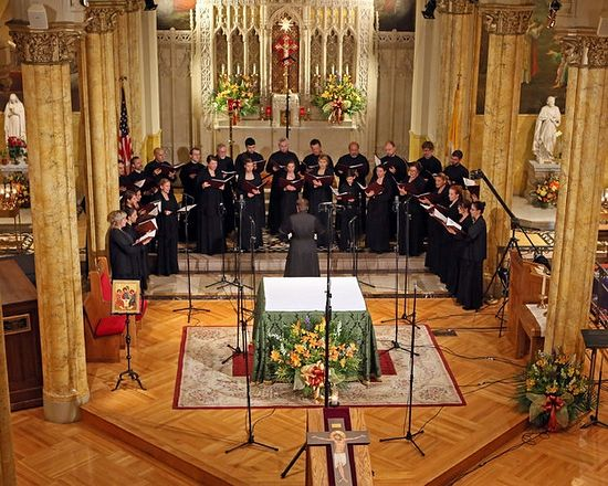Patriarch Tikhon Choir The group's debut at St. Malachy's Church. Photo: Ruby Washington/The New York Times