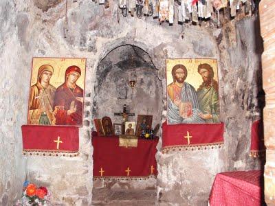 Inside the church in Vasta.