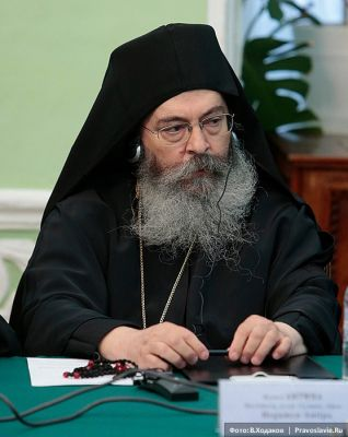 Abbot Antipa of the Skete of St. Anna, Mt. Athos, at a conference on monasticism in Moscow.
