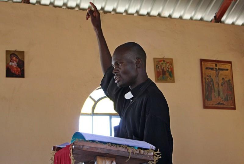 Проповедь во время литургии, Кения. Иерей Владимир