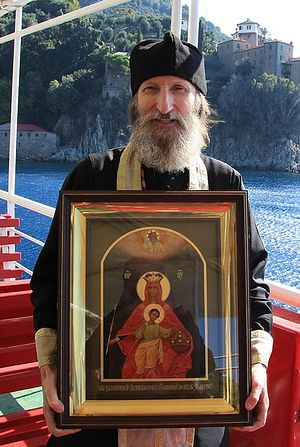 Священник Николай Булгаков на Афоне